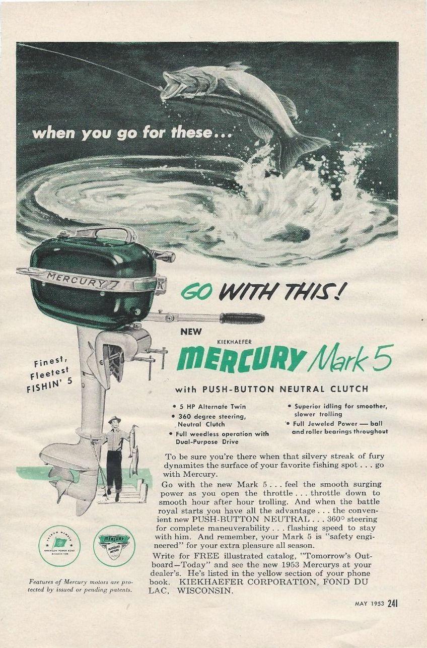 1953 Mercury Outboard Motor Ad