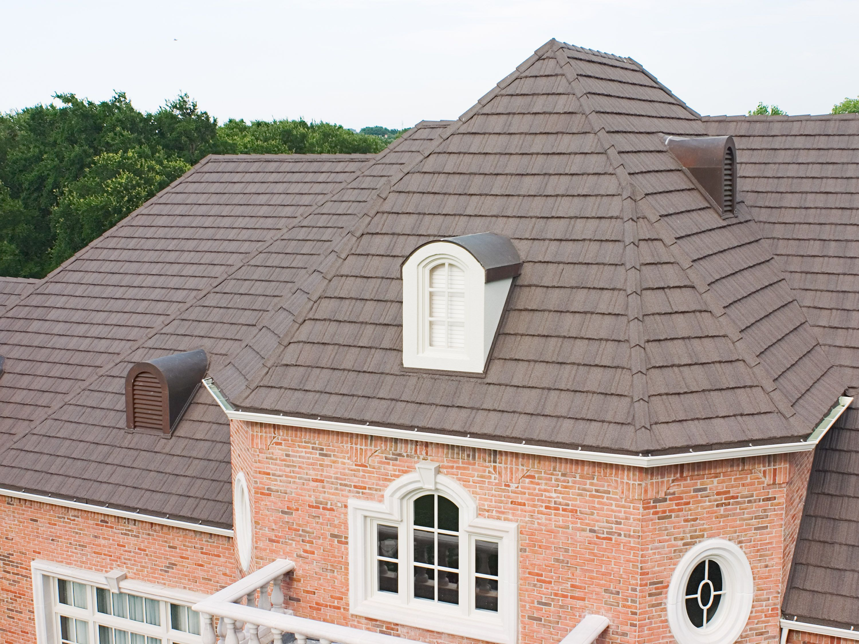Gerard Stone Coated Steel Metal Roofing Timberwood Canyon Shake Metal Roof Metal Roof Installation Steel Metal Roofing
