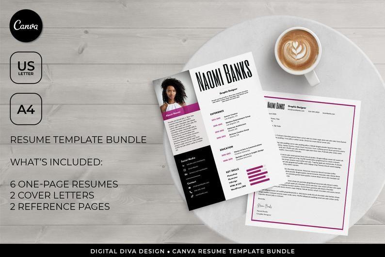 Canva Resume Template Bundle for Freelancers Creatives