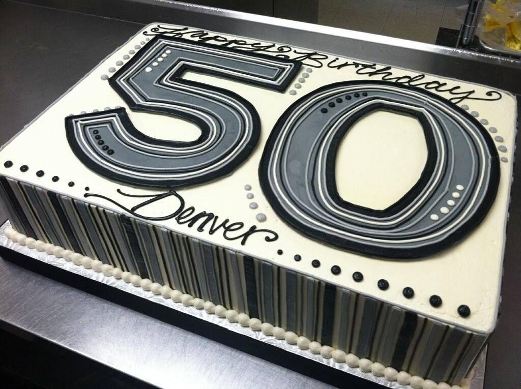 50th Birthday Sheet Cake White Flower Cake Shoppe Cake