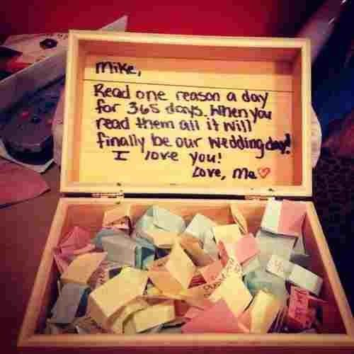 A box of little notes to remind him of how much he matters in your life #boyfriendgifts #gifts #giftideas