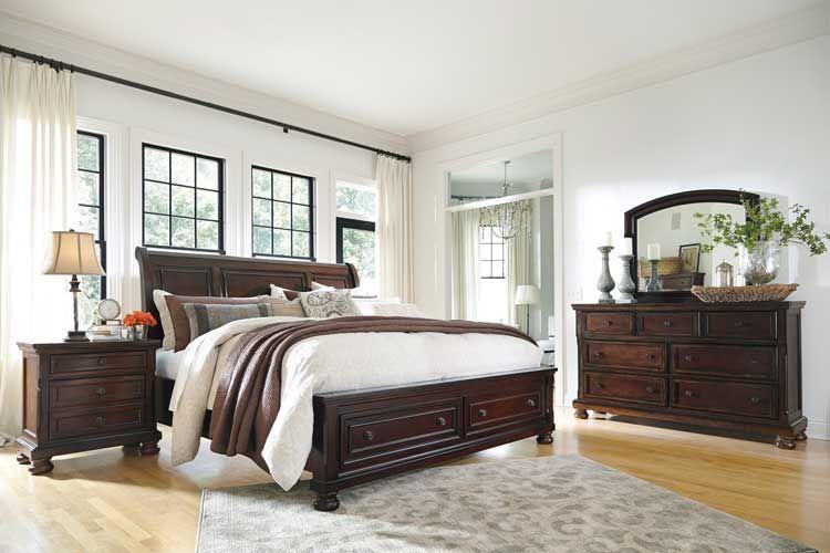 Porter Queen Sleigh Storage Bedroom Set In 2019 Sleigh Bedroom Set Bedroom Furniture Bed