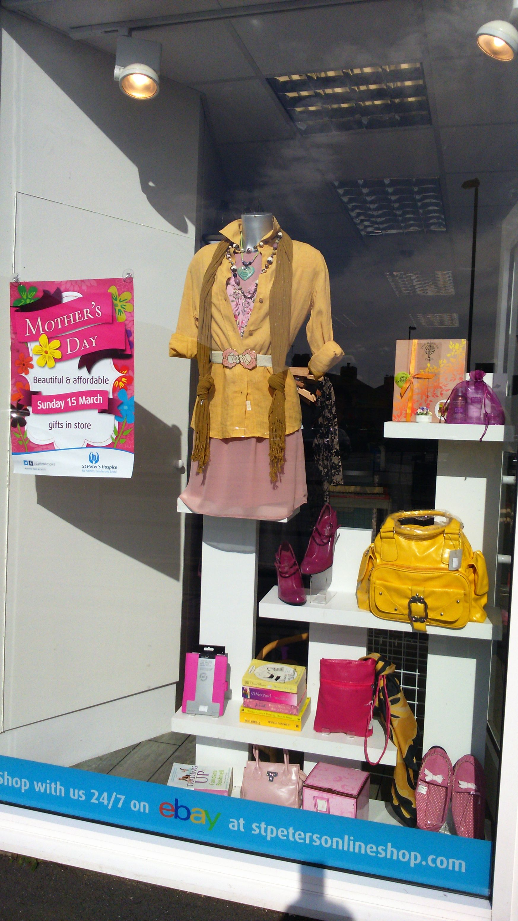 Mothers Day Window. https://www.facebook.com/pages/St-Peters-Hospice-Charity-Shop-Lodge-Causeway-Bristol/1546023025671824?ref=bookmarks
