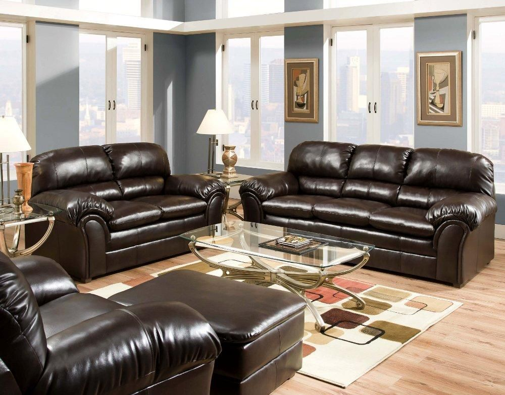 Vintage Espresso Sofa Loveseat Sofa And Loveseat Set Living Room Upholstery Ottoman In Living Room