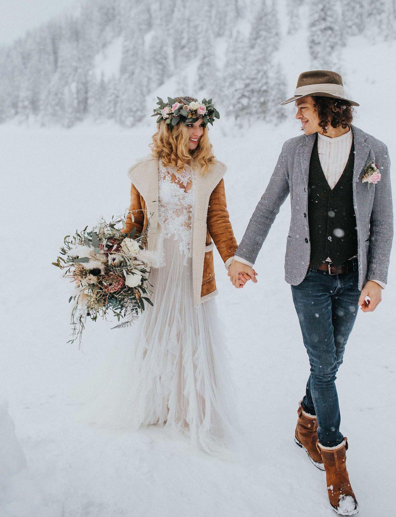 Winter Boho Hochzeit Inspiration  Inspiration in 2019