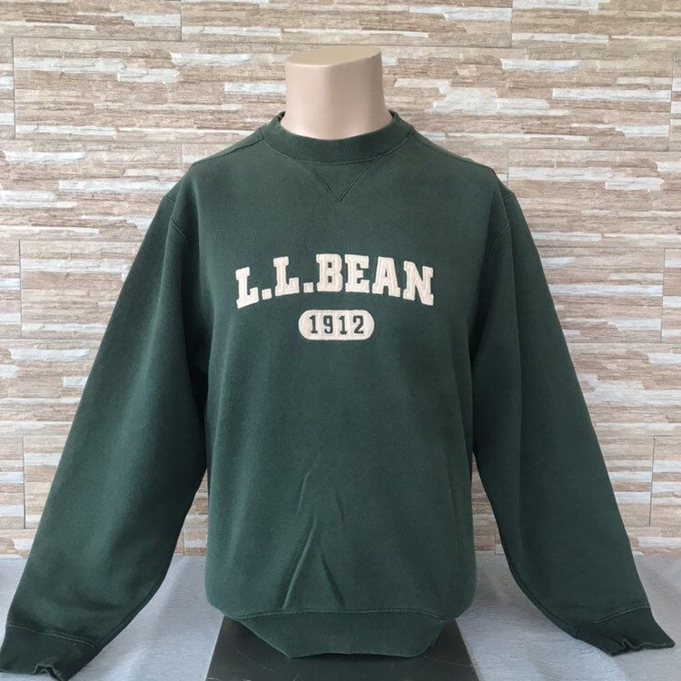 38e6900ad4a6 Excited to share the latest addition to my  etsy shop  Vintage 90s L.L.  Bean Spellout Embroidery Sweatshirts Crewneck L.L. Bean Jumpers Green  Colours ...