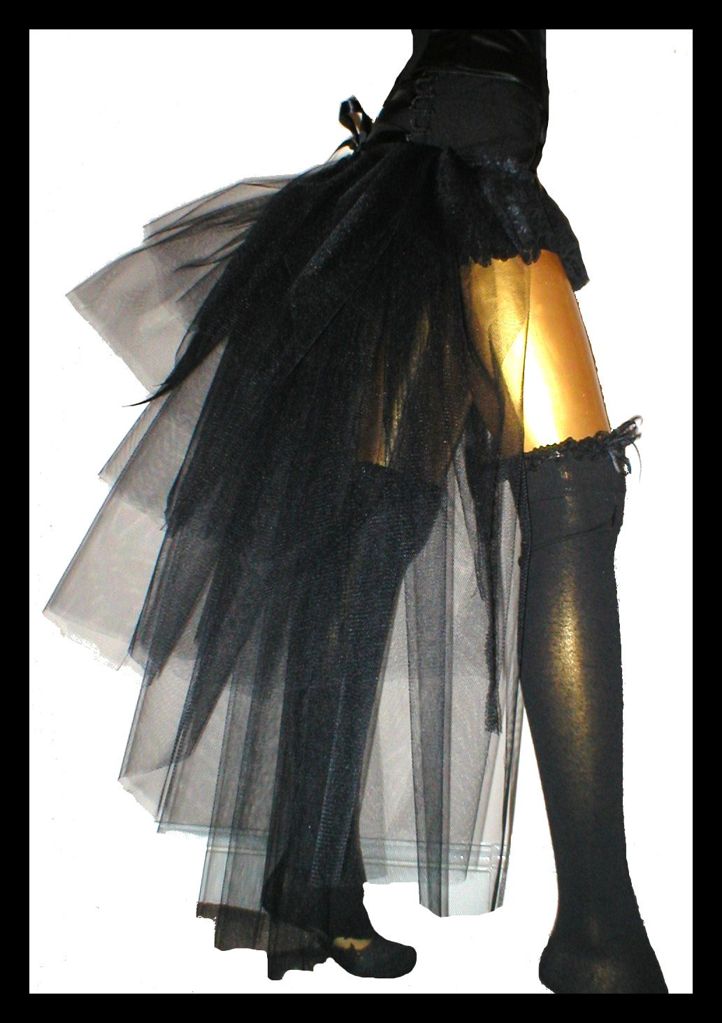 Long Carnival Bustle Skirt Burlesque Gothic Circus BAGHDAD AFTER MIDNIGHT Paris Showgirl Ziegfeld Follies Cabaret Gypsy Couture. $40.00, via Etsy.
