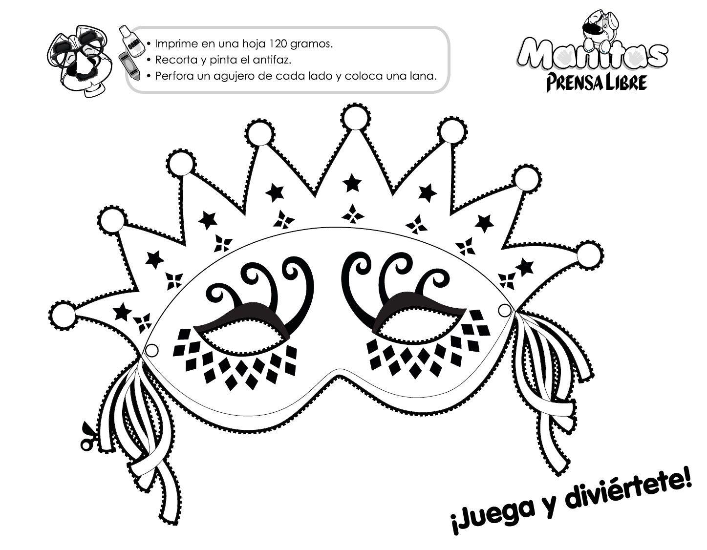 Modelos De Antifaces Para Imprimir Mascaras Carnaval Mascaras