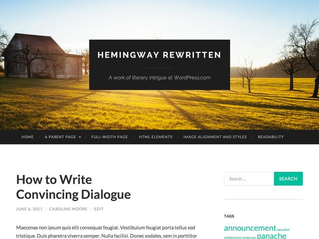 Hemingway Rewritten, con efecto Parallax en la cabecera! | Wordpress ...