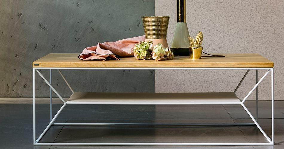 Table Basse Bois Maxim Avec Etagere Design En 2020 Table Basse Design Table Basse Style Scandinave Table Basse