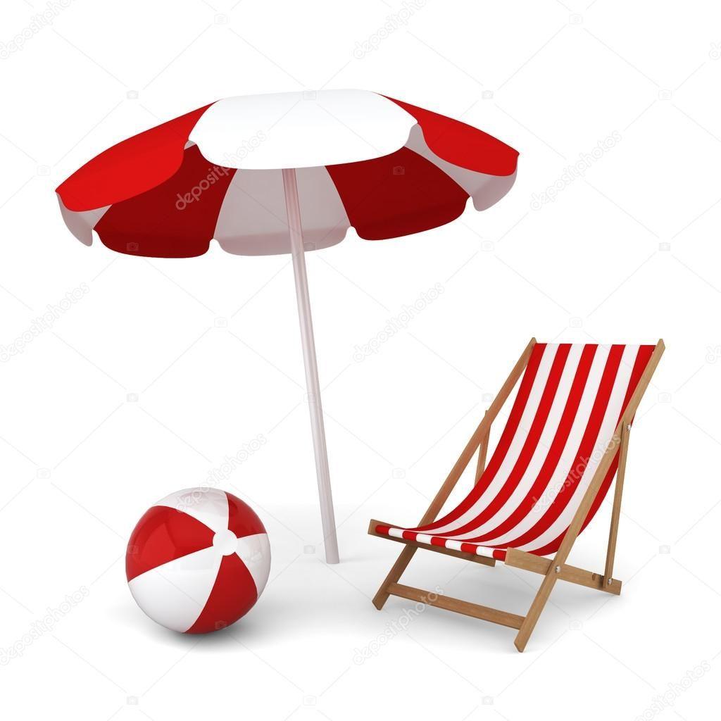 Beach Umbrella Chair And Ball Stock Image Affiliate Chair Umbrella Beach Image Ad Beach Umbrella Umbrella Chair Umbrella Illustration