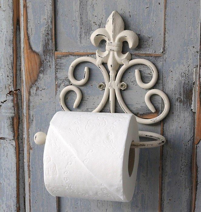 Toilettenrollenhalter 92103 blanco portapapel higienico 26 cm de metal de pared