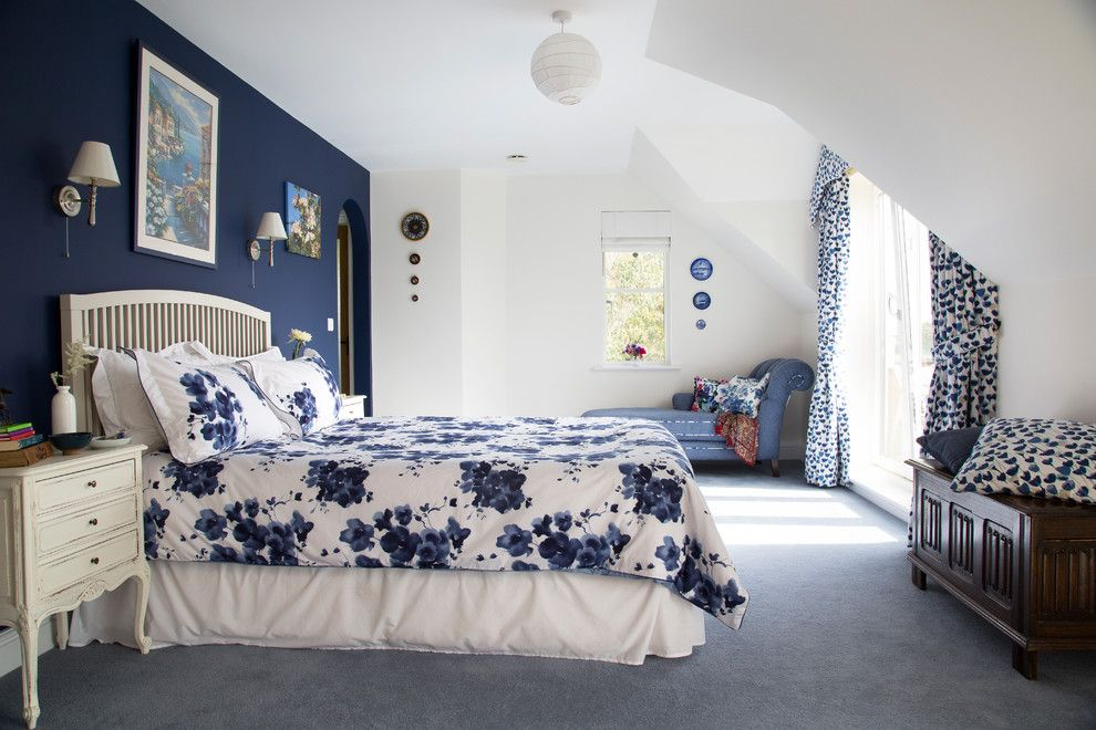 traditional master bedroom blue. Blue And White Wall Art Bedroom Traditional With Contemporary Artwork Open Storage Master G