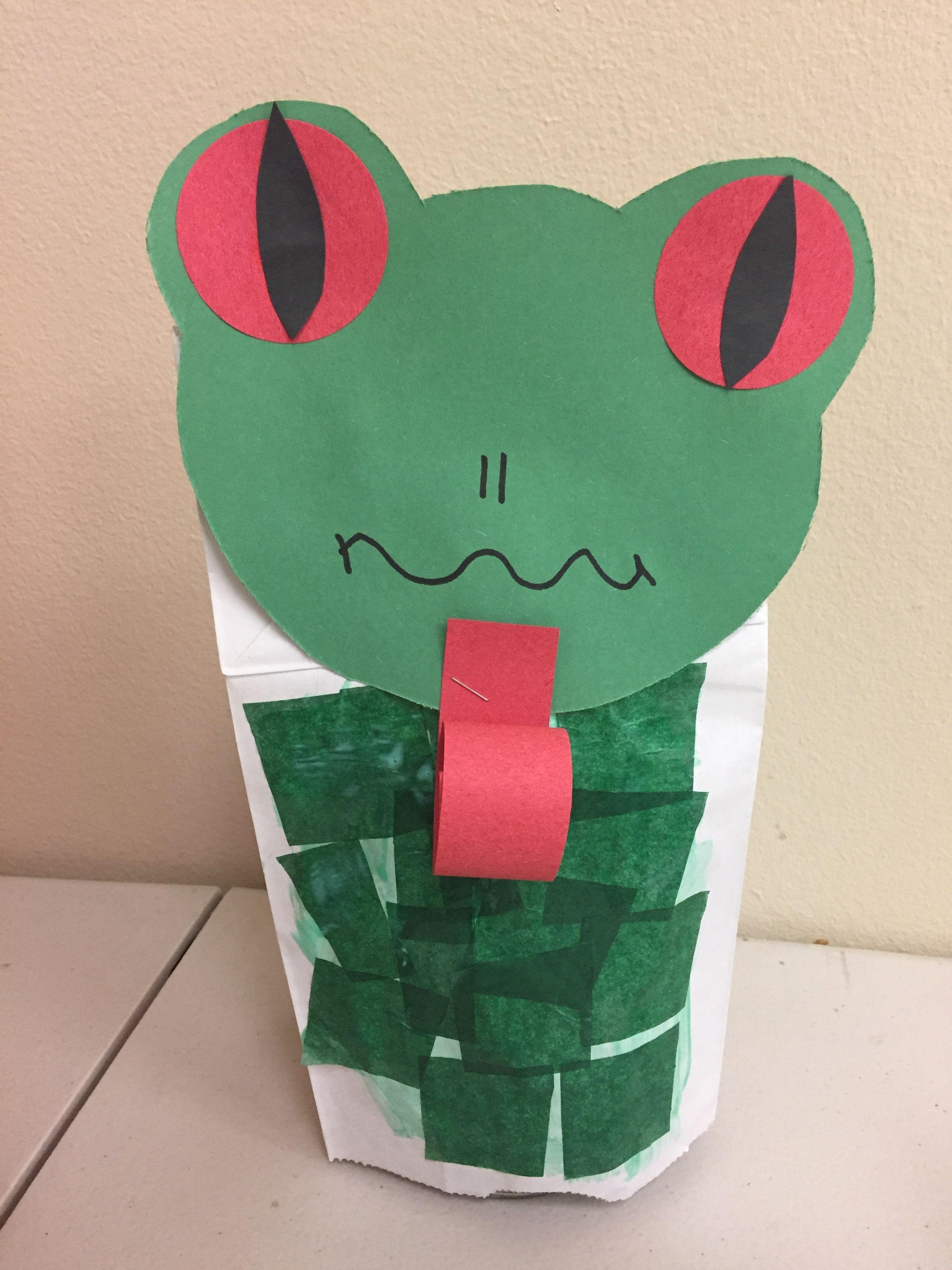 Frog Puppet Craft For Preschool Makeitfunpreschool