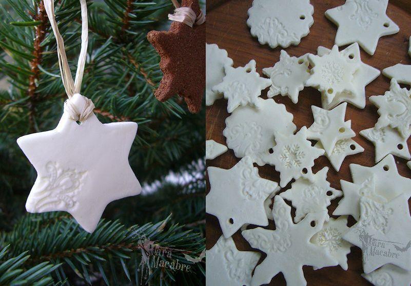 Fake-Porzellan! Nicht nur schön zu Weihnachten. selbst machen aus Stärke, Kleber... #kneteselbermachenrezept