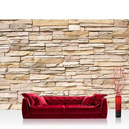 Vlies Fototapete 200x140 cm PREMIUM PLUS Wand Foto Tapete Wand - steinwand tapete wohnzimmer