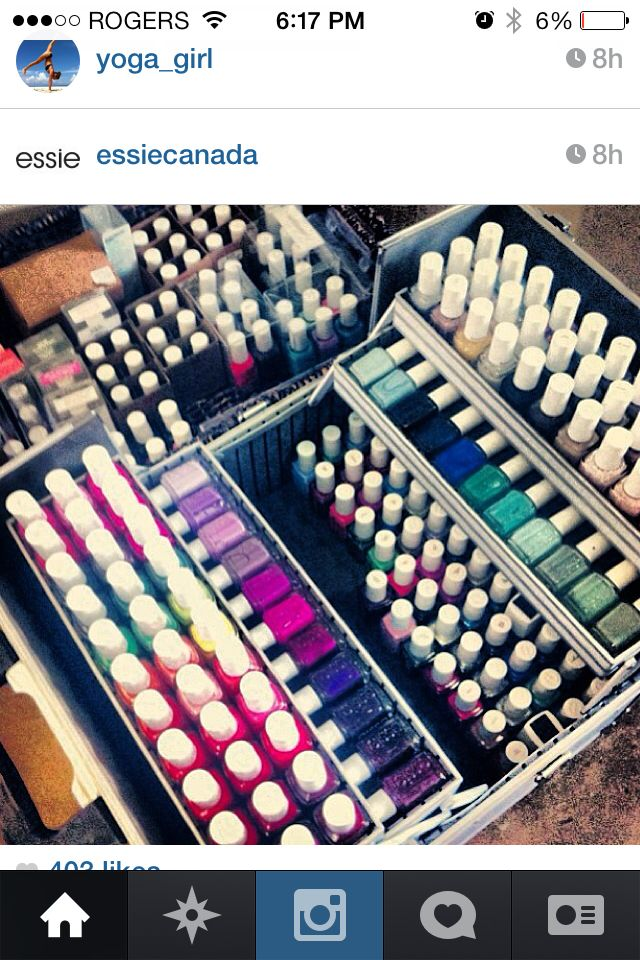 Nail Polish (Essie) Storage in Travel Make-up Case | Image only ...