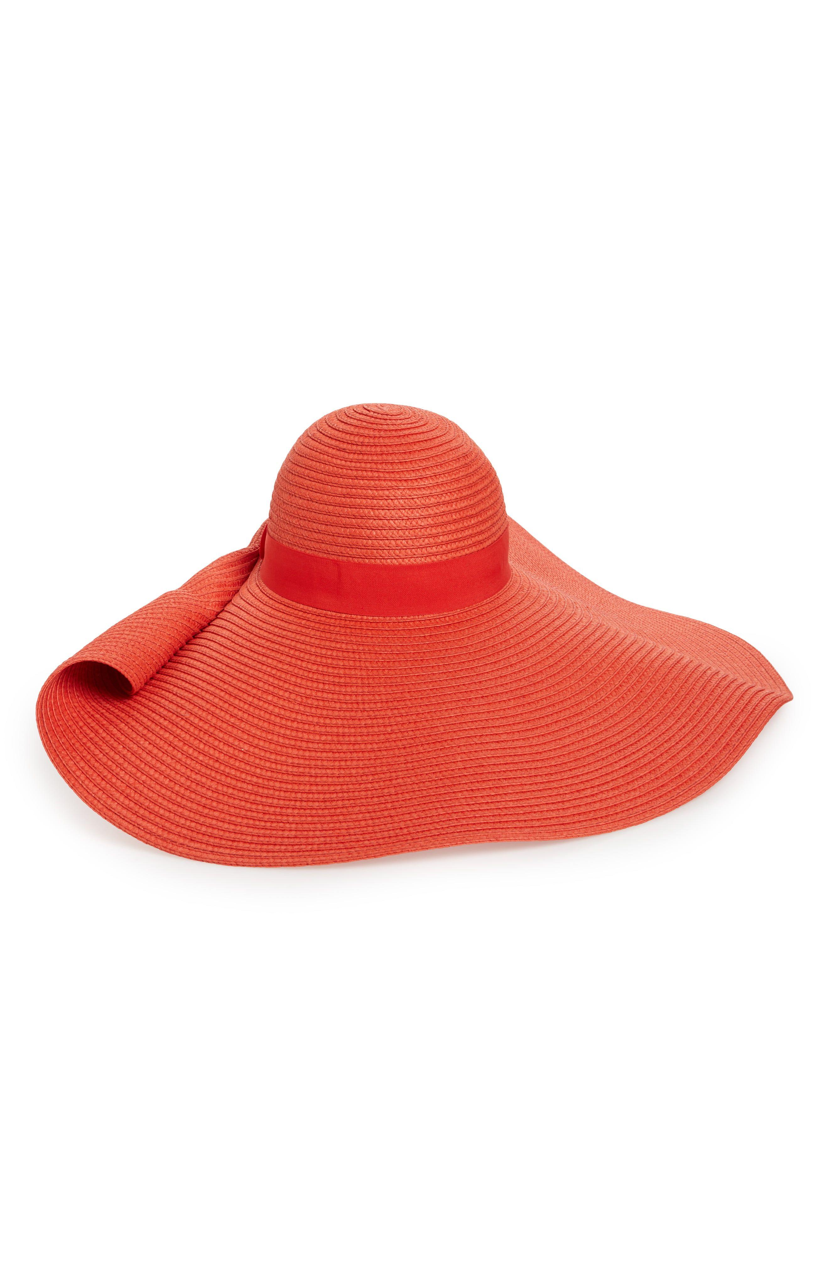 c0b4449c1 Women's Nordstrom Drama Floppy Brim Straw Sun Hat - Red Sun Hats, Drama,  Sombreros
