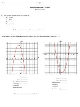 Factoring perfect square trinomials worksheet doc