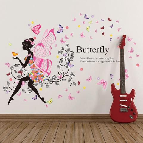 Angel flower girl wall sticker beautiful piece for your childrens bedroom