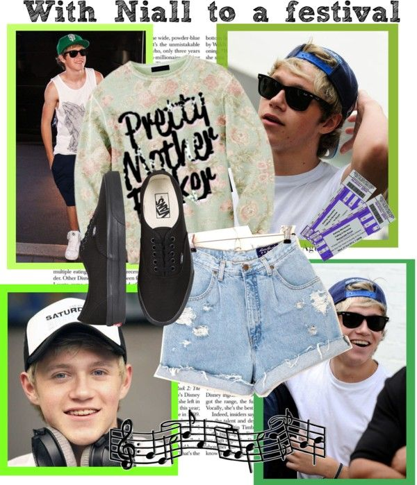 """""""With Niall to festival"""" by kjaer95 ❤ liked on Polyvore"""