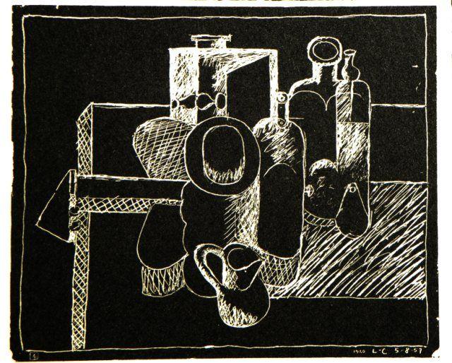 Original Grafik Le Corbusier, Graphique original Le Corbusier,   Titel: Petite Confidences IV,  Technik: Lithografie
