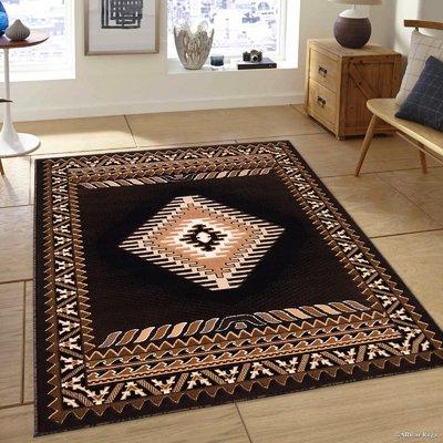 Luxury Silk Area Rugs 5x8 Modern Rug For Living Room Black Brown