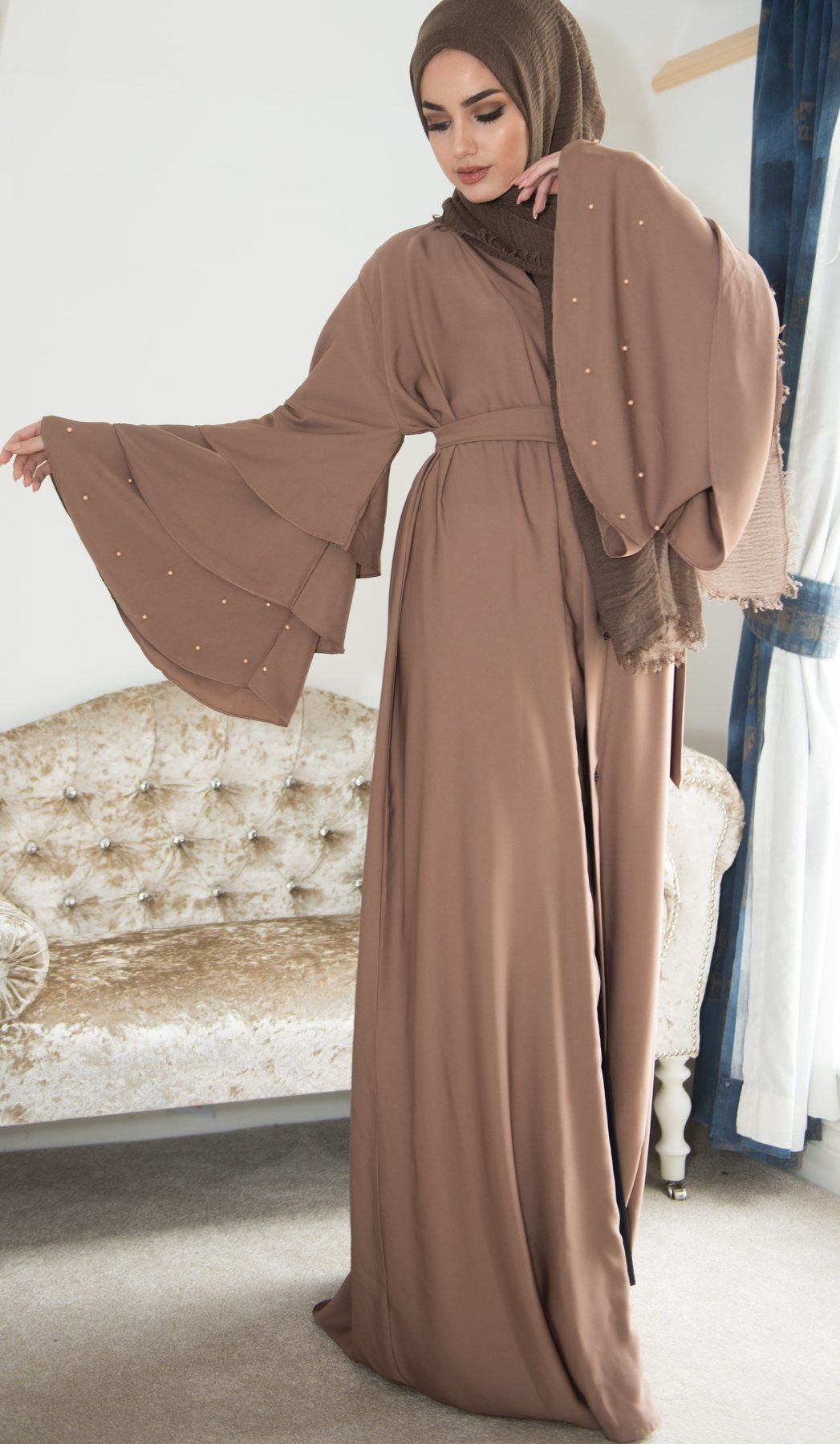 Pearl Bell Abaya Ready To Dispatch Buy This Essential For Every Modest Wardrobe Our Closed Abayas Muslim Fashion Dress Muslim Fashion Outfits Abaya Designs