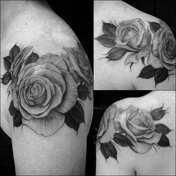 Pix For > Realistic Black And White Rose Tattoo | Tatts ...
