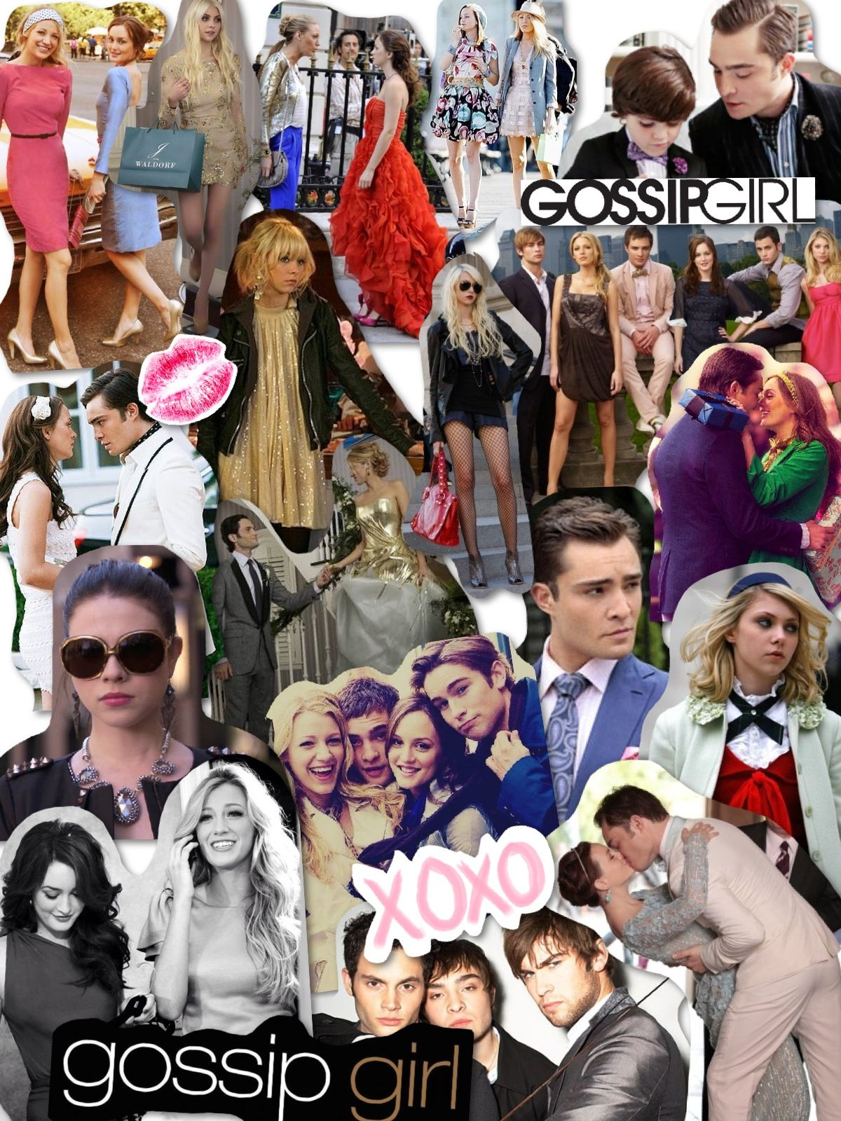 XOXO, Gossip Girl. love this collage props to whoever made ...