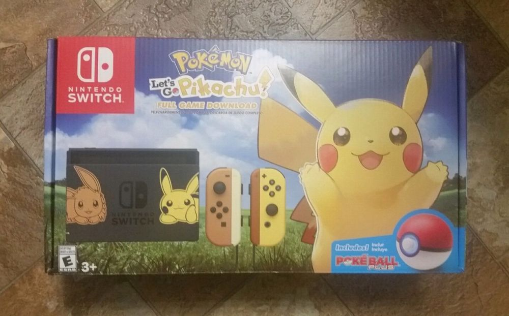 Nintendo Switch Pikachu Eevee Edition Pokemon Let S Go Pikachu Bundle In Hand Nintendo Buy Nintendo Switch Pikachu Eevee Edition With Pokemon Let S Go Pi