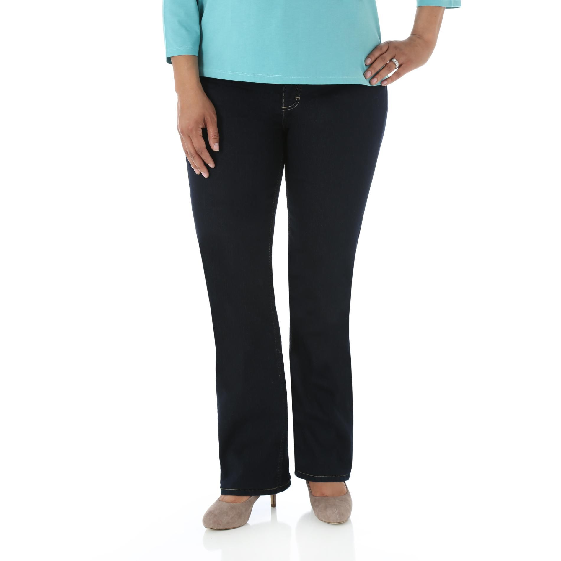 9ea59206f66 Riders by Lee Women s Plus Comfort Fit Bootcut Jeans-How to Embrace that  Hourglass Figure