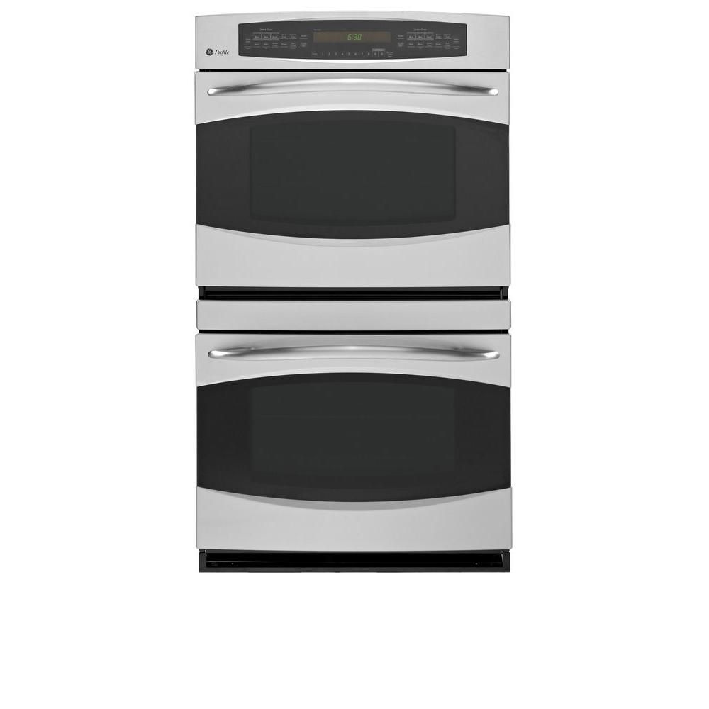 Ge Profile 30 In Double Electric Wall Oven Self Cleaning With Convection In Electric Wall Oven Stainless Steel Oven Nebraska Furniture Mart