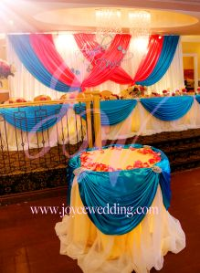 Turquoise Blue And Hot Pink Reception Design