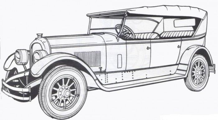 Free Coloring S Of Vintage Cars Old Cars Coloring Pages In