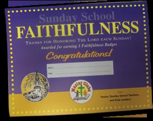 Sunday School Faithfulness Award