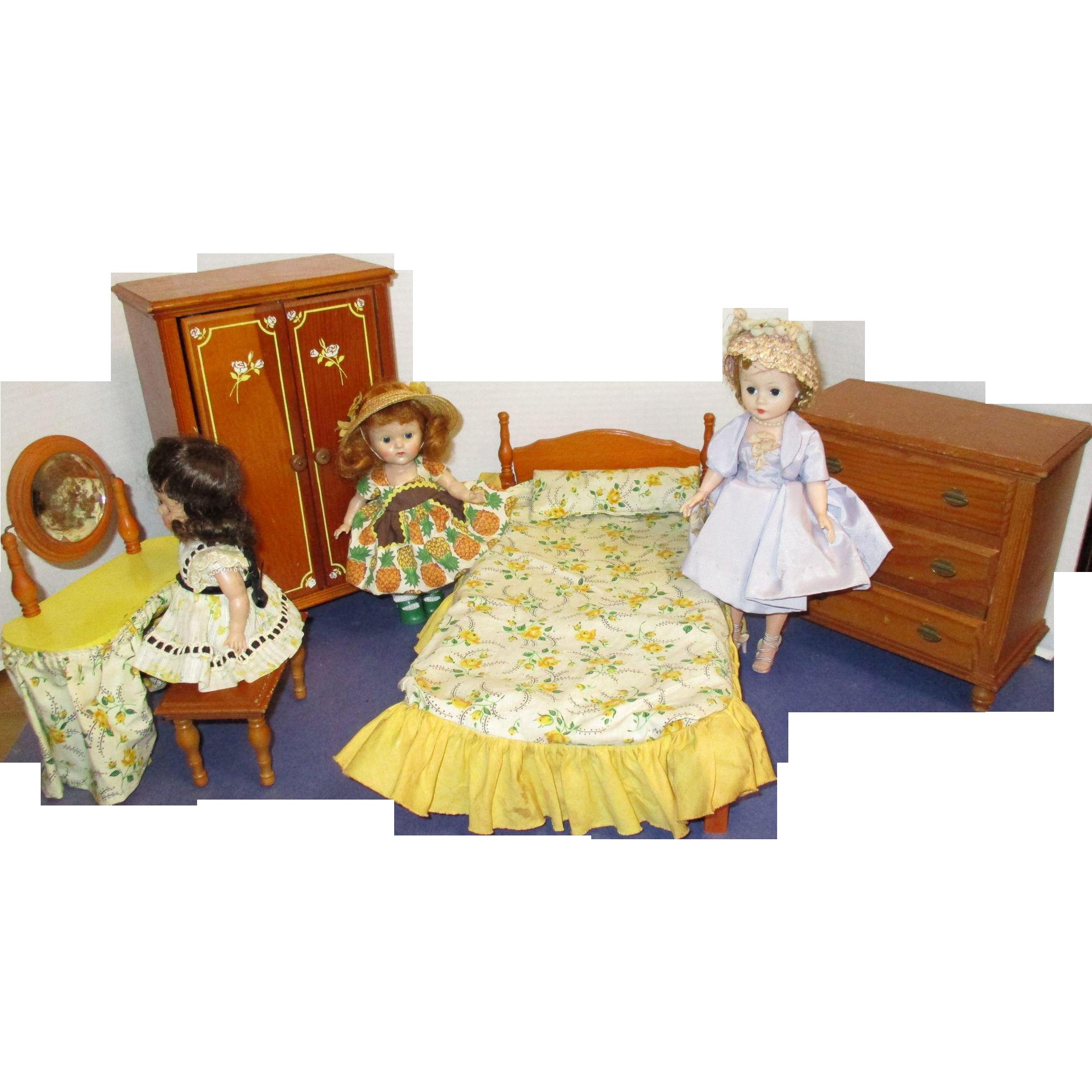 Vintage keystone wooden bedroom furniture set wooden bedroom