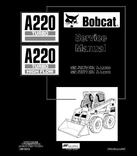 Bobcat a220 turbo skid steer loader service repair manual