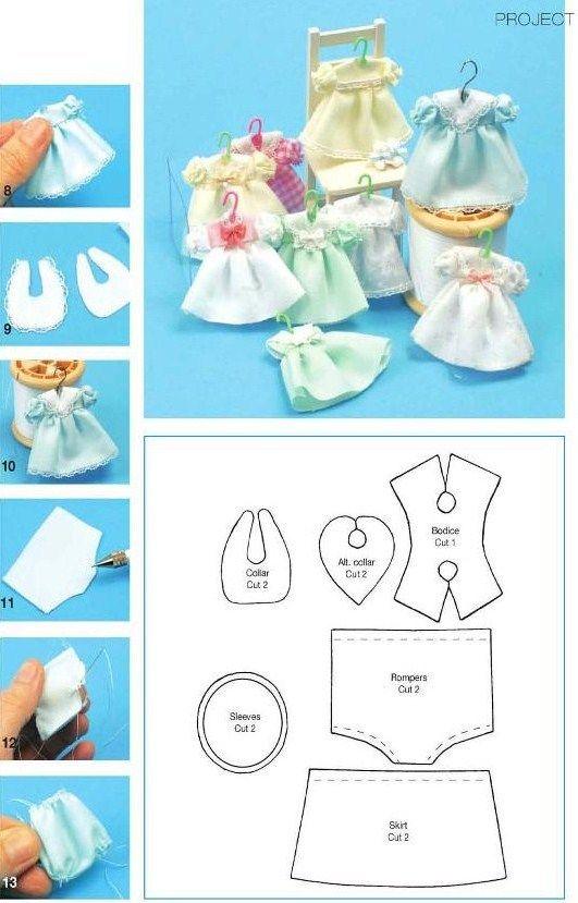 28 moldes que você precisa ter #dolldresspatterns