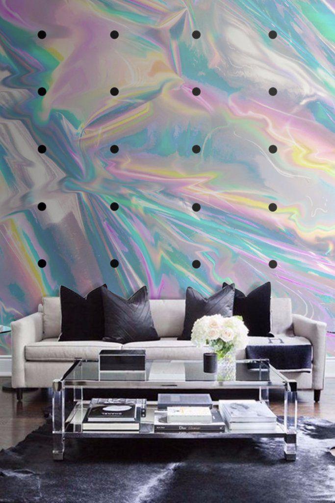 Holographic Neon Texture Wall Paper  85db5e19e975