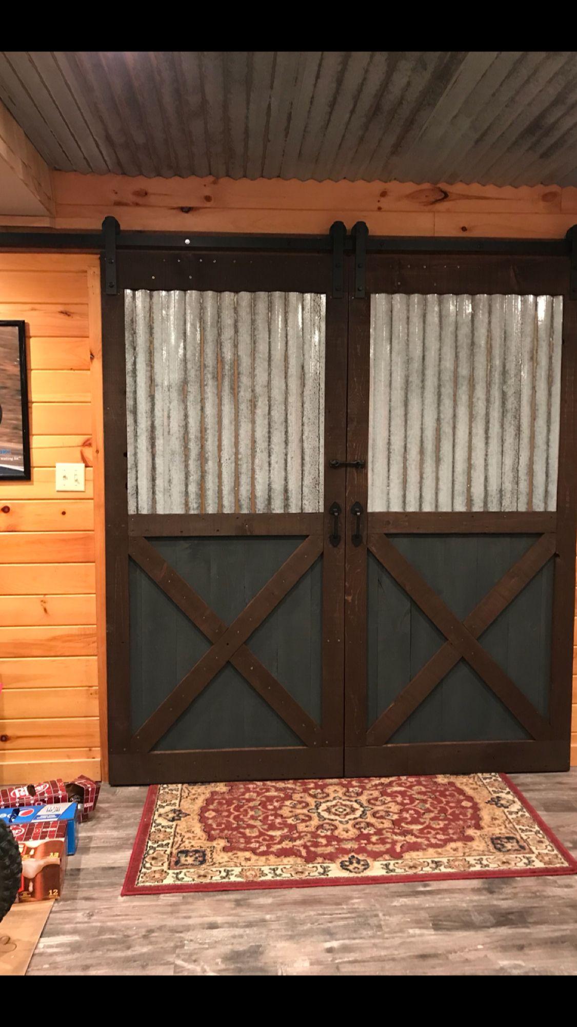Corrugated Tin On Barn Doors Diy Diy Barn Door Corrugated Tin Barn Door