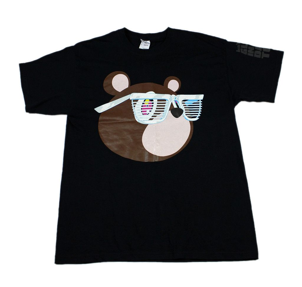 2007 Kanye West Glow In The Dark Tour Bear Shirt Mens Size Large Mens Shirts Bear Shirt Men