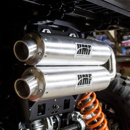 hmf full exhaust system for polaris rzr