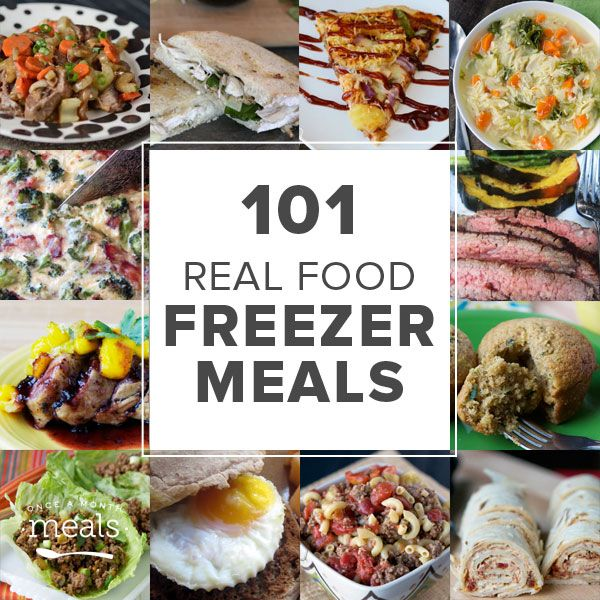 Here are 101 Real Food freezer meals to help you eat with the seasons, nourish your body, and cook from scratch.