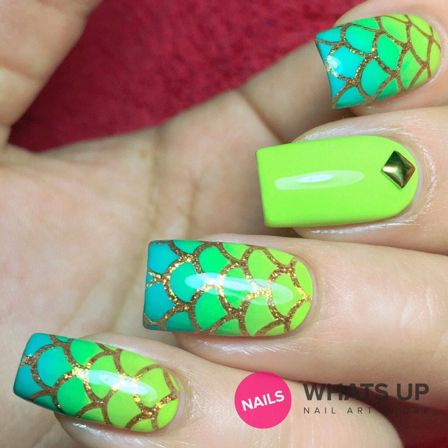 Here are some scale pattern nail stencils to give you gorgeous ...