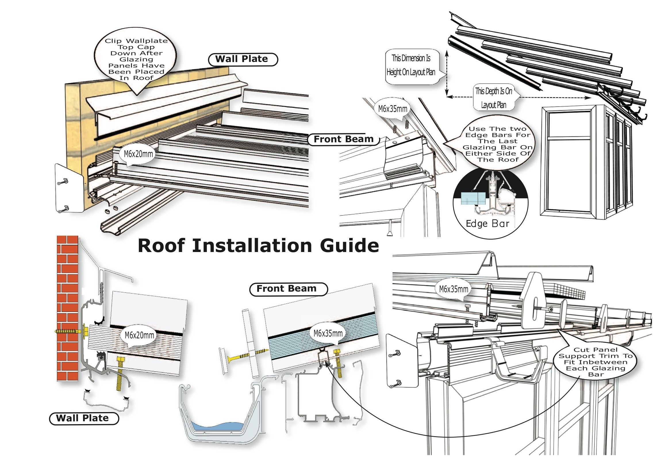 Eaves Beam For Self Support Roof Varico In 2020 Roof Roof Installation Roof Edge