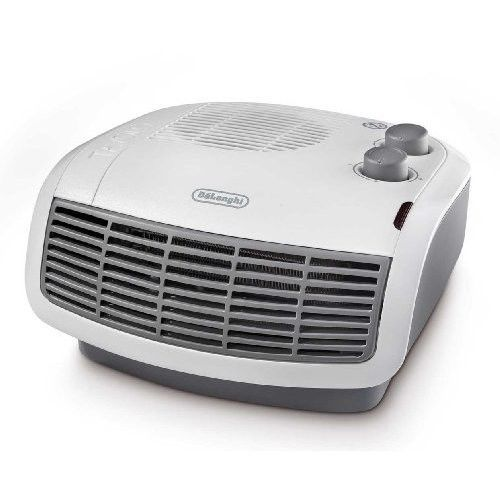 Portable Mini Heater Hot Air Small Electric Fan Thermostat Protection White Grey