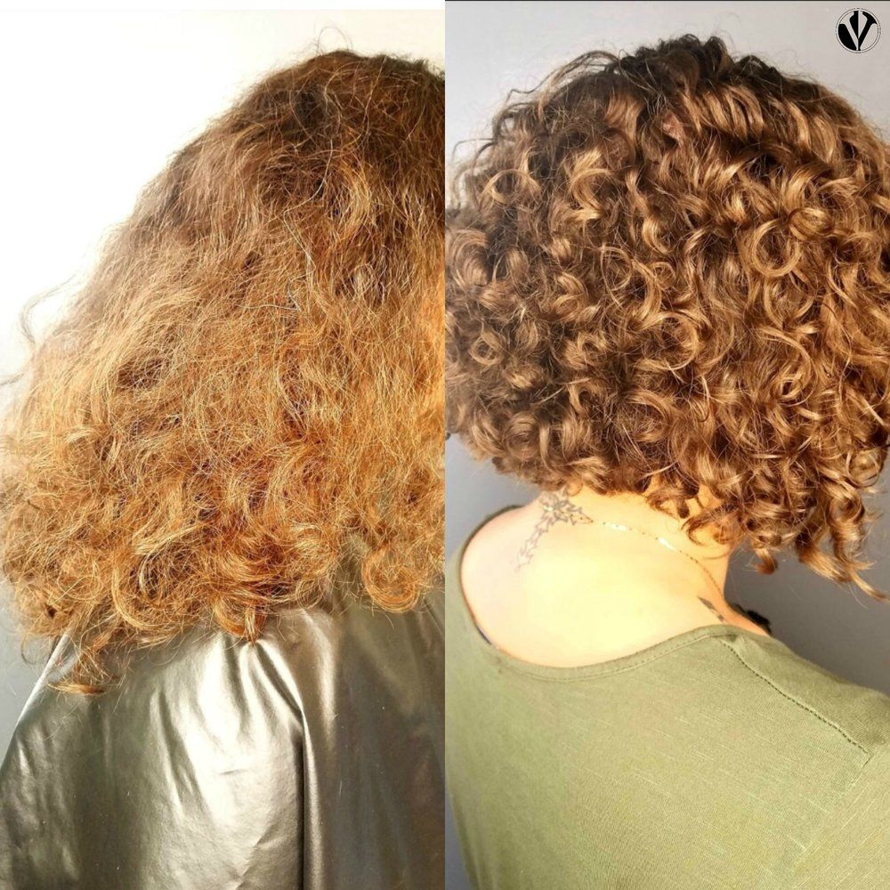 The Curl Definition That This Client Experienced Was Due In Part To The Ability Of Her Hair To Dry Naturally And Dry Curls Curly Hair Styles Hair Care Secrets