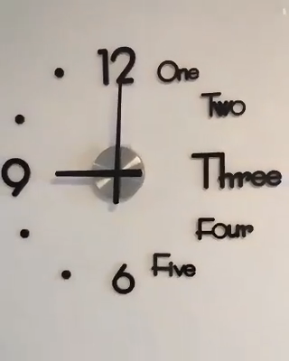 2019 Upgraded Super Big new Wall Clock Acrylic Metal Mirror Super Big Personalized Digital Wall Watches Clock