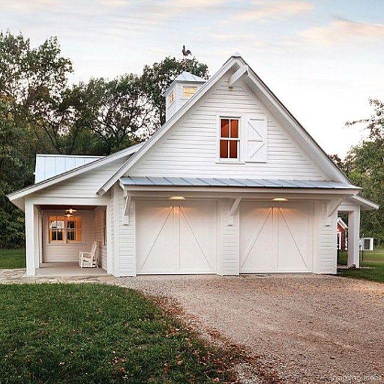 Captivating (Shutter Over Garage) 44 Simple Modern Farmhouse Exterior Design Ideas